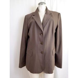Talbots Size 14 Brown -ish Taupe Blazer